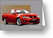 Ute Greeting Cards - Holden Ute Greeting Card by Colin Tresadern