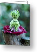 Hollyhock Greeting Cards - Hollyhock Doll Greeting Card by Melissa Wyatt