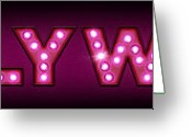 Light  Digital Art Greeting Cards - Hollywood in Lights Greeting Card by Michael Tompsett