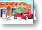 Adobe Pastels Greeting Cards - Home For Christmas Greeting Card by Dolores Aragon