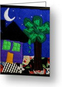Framed Art Tapestries - Textiles Greeting Cards - Home Greeting Card by Ghazel Rashid