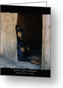 Dobe Greeting Cards - Home Sweet Home Greeting Card by Rita Kay Adams