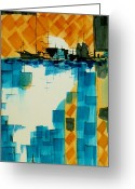 Representative Abstract Greeting Cards - Homeward Bound Greeting Card by David Raderstorf