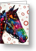 Animal Greeting Cards - Horse Greeting Card by Dean Russo