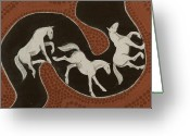 Running Horse Painting Greeting Cards - Horse dreams Greeting Card by Sophy White