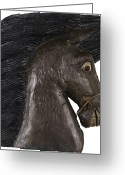 Greek Sculpture Painting Greeting Cards - Horse Head Greeting Card by Kurt Olson