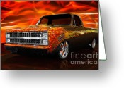 1970s Photo Greeting Cards - Hot Rod Chevrolet Scotsdale 1978 Greeting Card by Oleksiy Maksymenko
