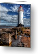 Talacre Digital Art Greeting Cards - House of Light Greeting Card by Adrian Evans