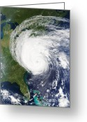 Isabel Greeting Cards - Hurricane Isabel On The Us East Coast Greeting Card by NASA / Science Source