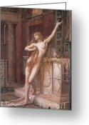 Pagan Art Greeting Cards - Hypatia Of Alexandria, Mathematician Greeting Card by Science Source