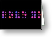 Spheres Greeting Cards - I Love You - Braille Greeting Card by Michael Tompsett