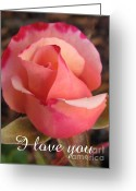Inside You Greeting Cards - I love you Greeting Card by Tina Marie