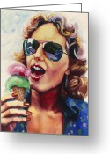 Ice Painting Greeting Cards - I Scream Greeting Card by Lucretia Torva