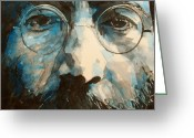 Beatles Painting Greeting Cards - I was the Dreamweaver Greeting Card by Paul Lovering
