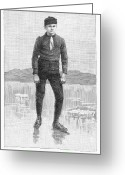 Ice Skater Greeting Cards - Ice Skater, 1880 Greeting Card by Granger