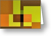 Geometrical Art Painting Greeting Cards - Imagine Greeting Card by Ely Arsha