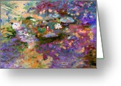 Purples Greeting Cards - In Memory of Monet Greeting Card by John Lautermilch