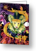 Carolyn Legrand Greeting Cards - In The Midnight Hour Greeting Card by Carolyn LeGrand