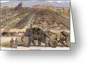 Encampment Greeting Cards - India: Sepoy Mutiny, 1857 Greeting Card by Granger