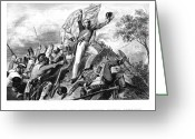 Capture Greeting Cards - India: Sepoy Rebellion, 1857 Greeting Card by Granger