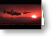 Plane Greeting Cards - Into The Sun Greeting Card by Mike McGlothlen