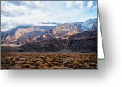 Fault Block Greeting Cards - Inyo Mountains Morning Greeting Card by Troy Montemayor
