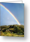 Rainbows Greeting Cards - Irish Rainbow Greeting Card by John Greim