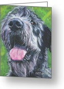 L.a.shepard Greeting Cards - Irish Wolfhound Greeting Card by Lee Ann Shepard