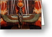 Goddess Posters Greeting Cards - Isis Greeting Card by Sheila Kay McIntyre
