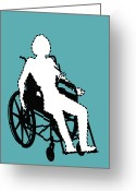 Disability Greeting Cards - Isolation Through Disability, Artwork Greeting Card by Stephen Wood