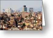 Generic Greeting Cards - Istanbul Cityscape Greeting Card by Artur Bogacki