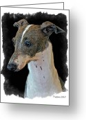 Pure Digital Art Greeting Cards - Italian Greyhound Greeting Card by Larry Linton