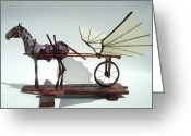 Wings Sculpture Greeting Cards - Jabber Box Greeting Card by Jim Casey