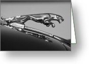 Car Mascot Greeting Cards - Jaguar Hood Ornament 2 Greeting Card by Jill Reger