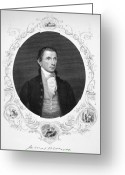 Signature Greeting Cards - James Monroe (1758-1831) Greeting Card by Granger