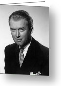1940s Fashion Greeting Cards - James Stewart (1908-1997) Greeting Card by Granger