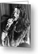 Joplin Greeting Cards - Janis Joplin (1943-1970) Greeting Card by Granger