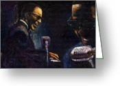 Ray Charles Greeting Cards - Jazz Ray Charles Greeting Card by Yuriy  Shevchuk