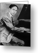 Black Tie Greeting Cards - Jelly Roll Morton Greeting Card by Granger