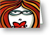 Dan Daulby Greeting Cards - Jenni Giggles Greeting Card by Dan Daulby