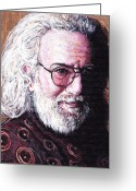 Royal Gamut Art Greeting Cards - Jerry Garcia Greeting Card by Tom Roderick