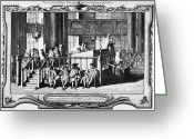Rabbi Greeting Cards - JEWISH LIFE, 18th CENTURY Greeting Card by Granger