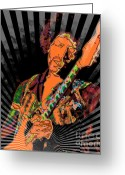 N Framed Prints Greeting Cards - Jimi Hendrix Greeting Card by RJ Aguilar