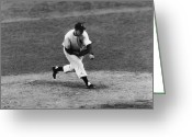 Brooklyn Dodgers Stadium Greeting Cards - Joe Page (1917-1980) Greeting Card by Granger