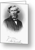 Autograph Greeting Cards - John Tyndall (1820-1893) Greeting Card by Granger