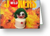 Fisher Price Little People Greeting Cards - Jokers Wild Greeting Card by Ricky Sencion