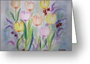 Beautiful Flowers Greeting Cards - Joy Greeting Card by Barbara Teller