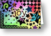 I Love You Script Greeting Cards - Joy Greeting Card by Jennifer Heath Henry