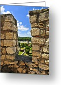 Roman Photo Greeting Cards - Kalemegdan fortress in Belgrade Greeting Card by Elena Elisseeva