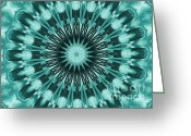 Digitalized Digital Art Greeting Cards - Kaliedescope Greeting Card by Marsha Heiken